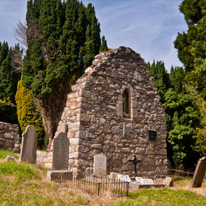 The ruins of the old Norman church at Rathmichael